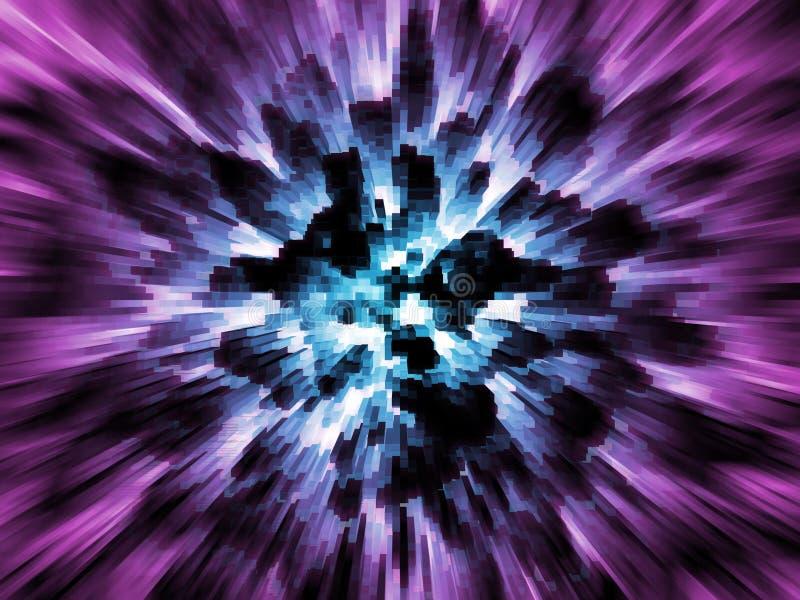 Explodierende blaue Stadt vektor abbildung