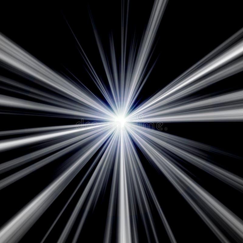 Explodierender blauer Stern stock abbildung