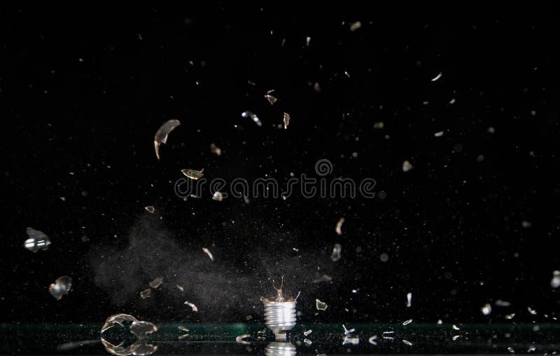 Explodierender Lampenfühler stockbild