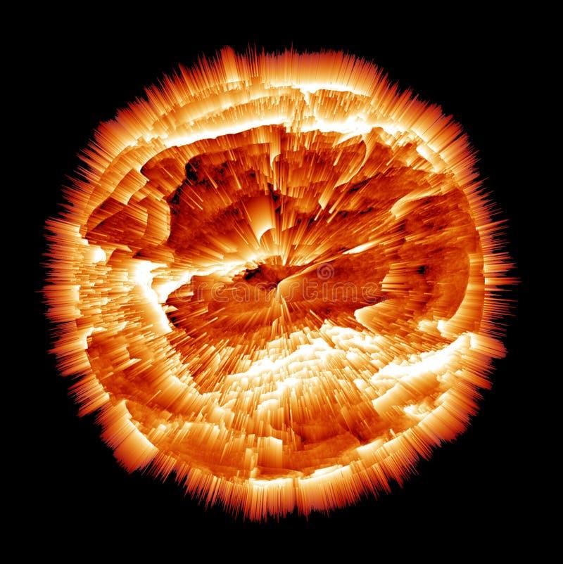 Explodierender Planet lizenzfreie abbildung