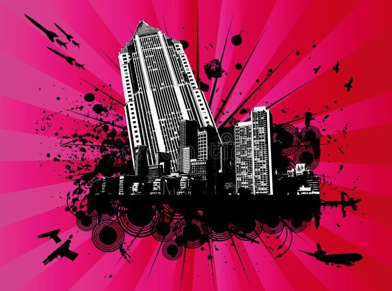 explodin wysoki wzrost budynku. ilustracja wektor