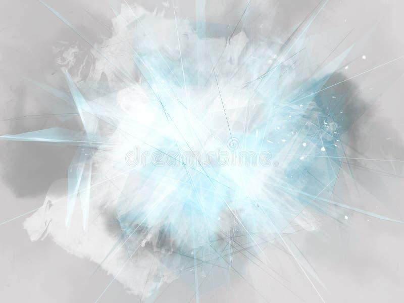 Exploding blank copy space for logo vector illustration