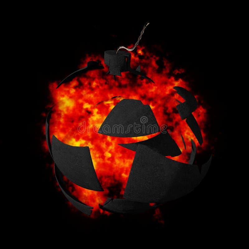 Exploding bomb. Illustration of an exploding bomb vector illustration
