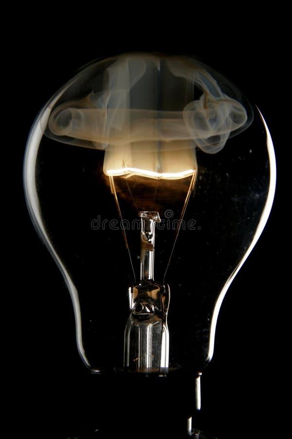 Exploding bulb royalty free stock image