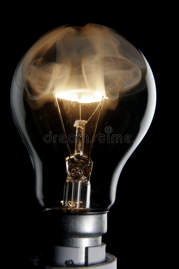 Exploding bulb royalty free stock images