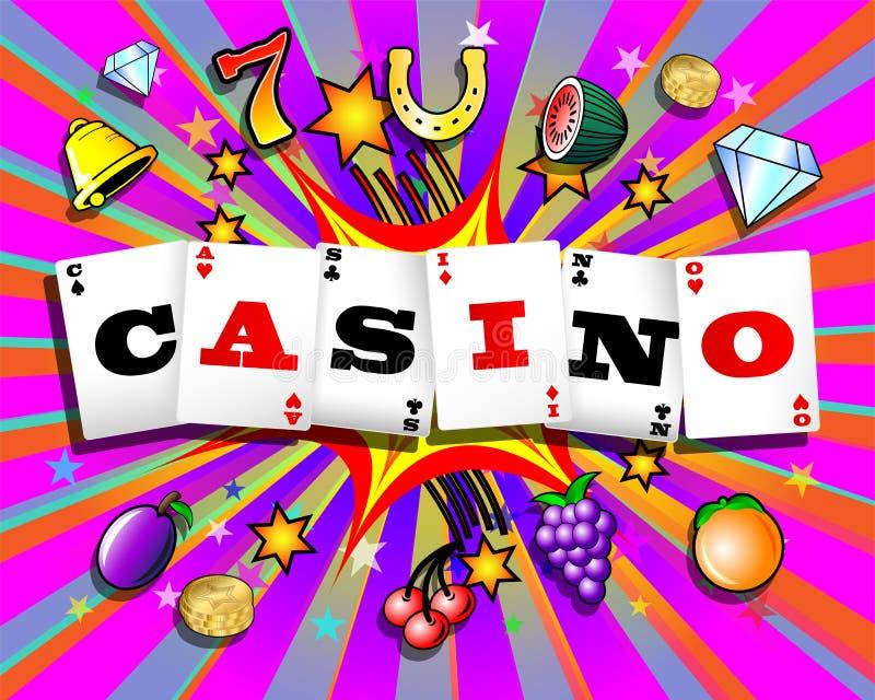 Exploding Casino Background royalty free illustration