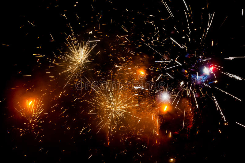 Exploding fireworks stock photos