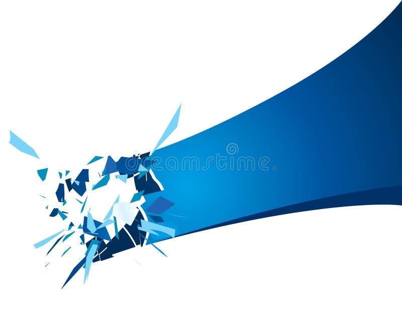 Exploding frame. Vector illustration of the exploding frame stock illustration