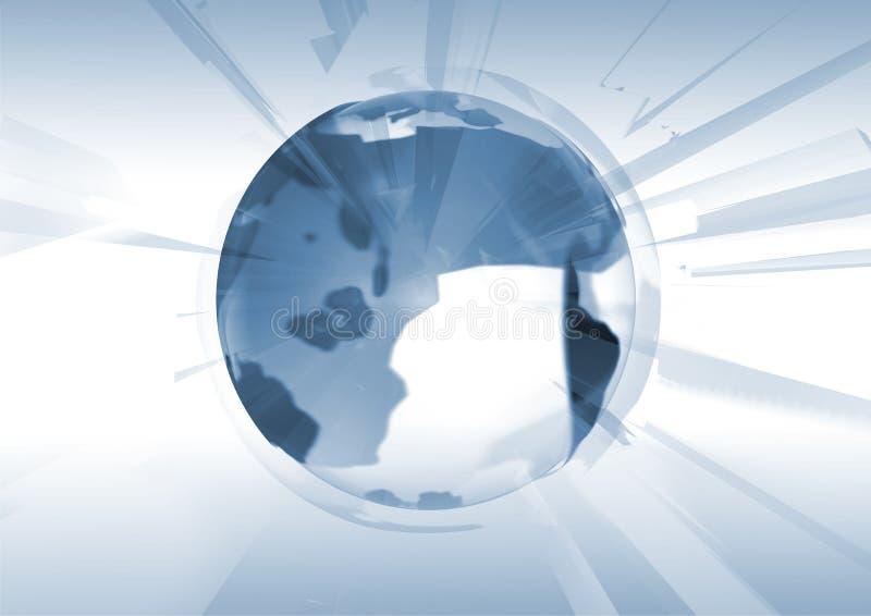 Exploding Globe vector illustration