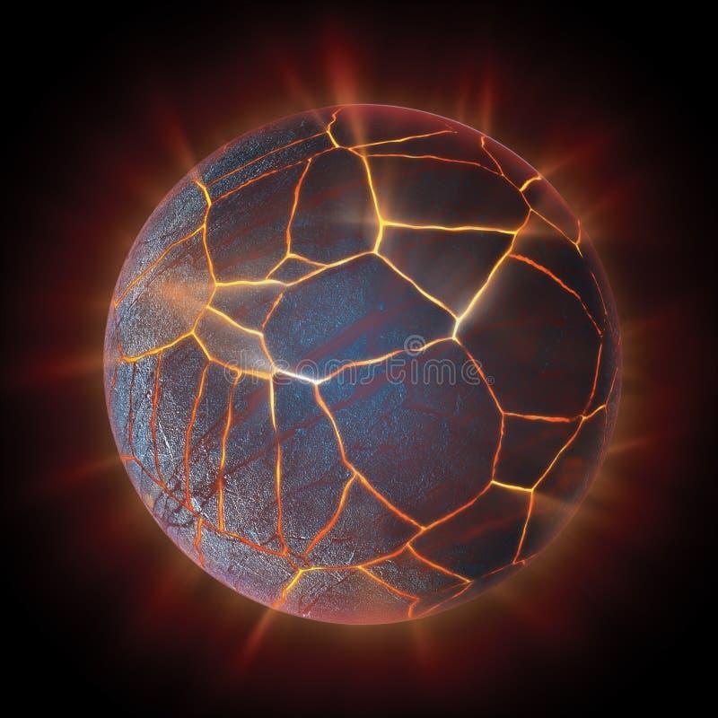 Exploding globe. An exploding globe background illustration vector illustration