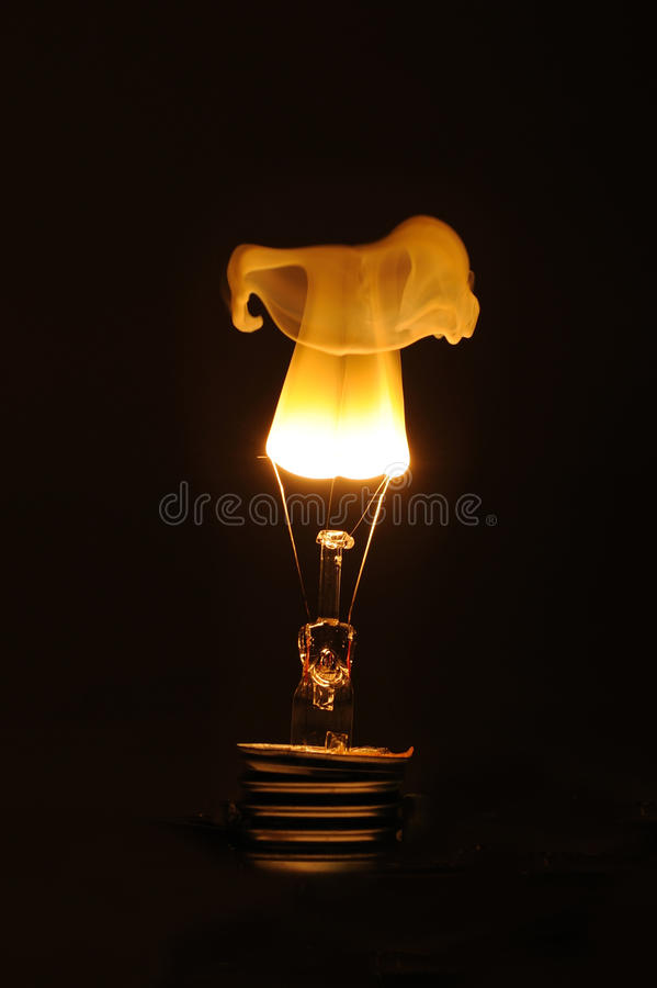 Exploding light bulb royalty free stock photo