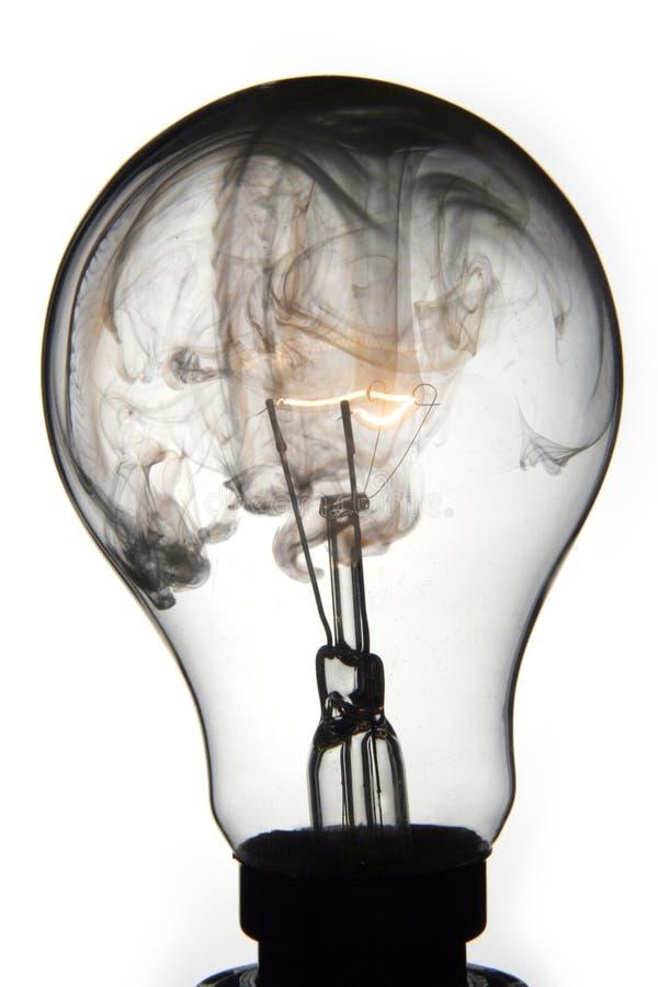 Exploding lightbulb stock image