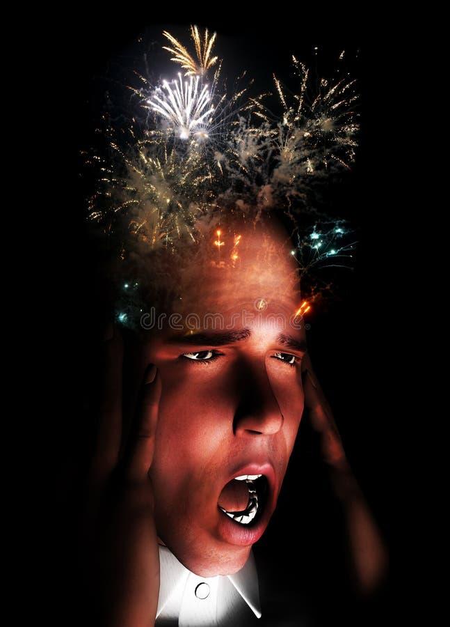 Download Exploding Mind stock image. Image of migraine, bang, human - 23765127