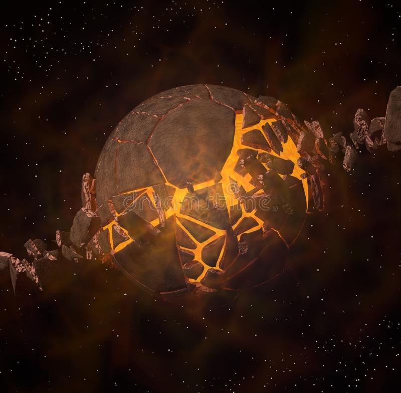 Exploding planet royalty free stock photography