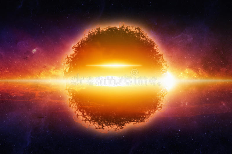 Exploding planet in space royalty free illustration