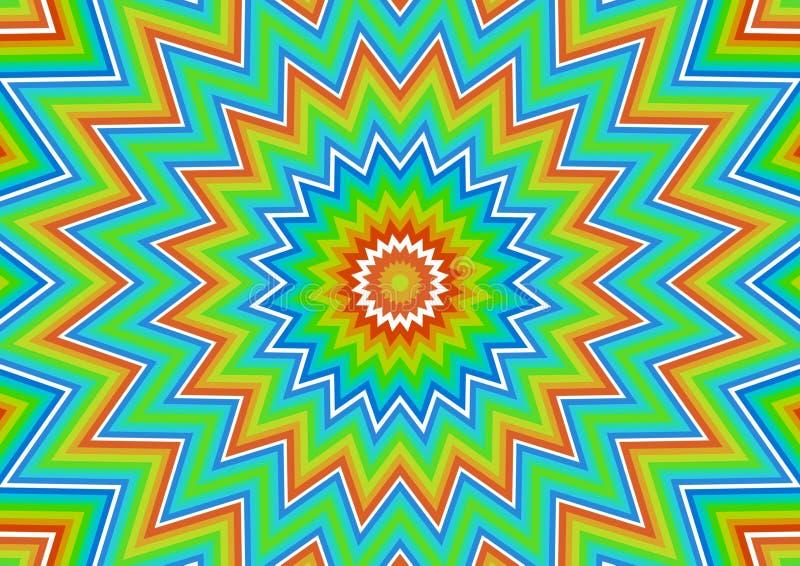 Exploding rainbows vector illustration