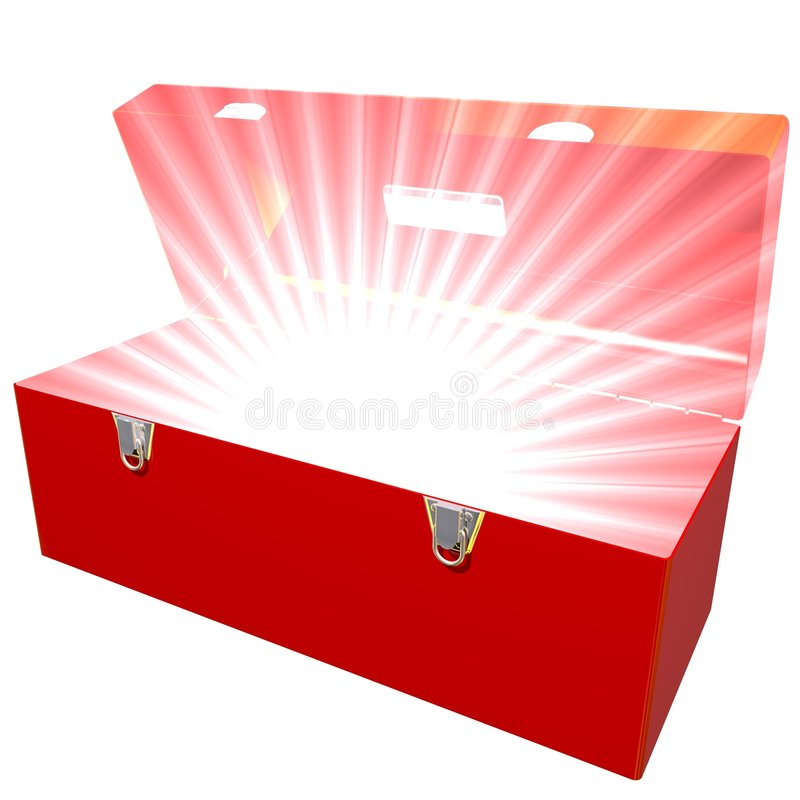 Download Exploding Toolbox stock illustration. Illustration of brilliant - 6345281