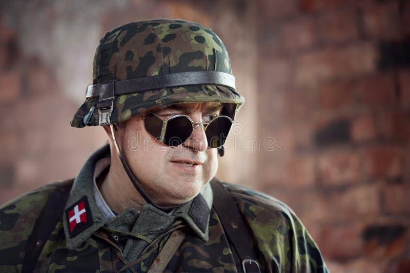 Exploit oublié par ` historique militaire de reconstitution En second lieu ` d'armée de choc image libre de droits