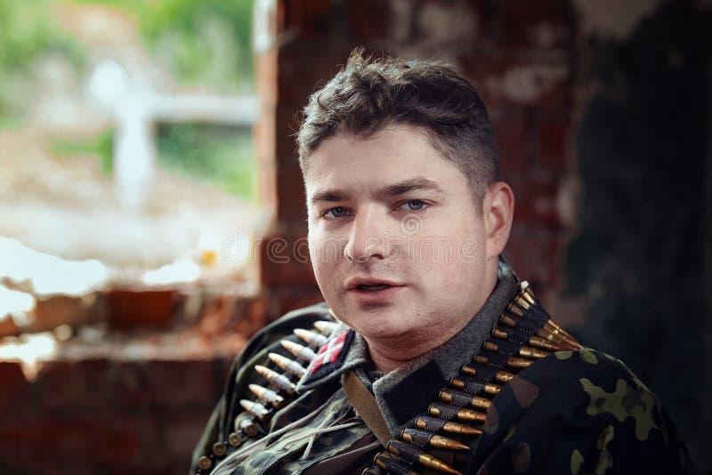 Exploit oublié par ` historique militaire de reconstitution En second lieu ` d'armée de choc photo libre de droits