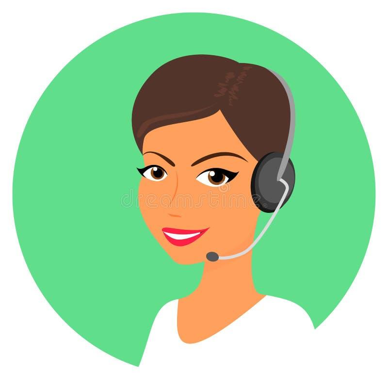 Exploitant de centre serveur féminin d'appel illustration libre de droits