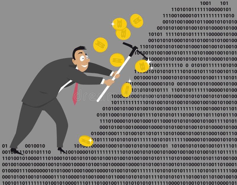 Exploitation de Bitcoin illustration libre de droits