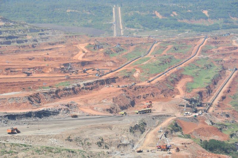Exploitation de charbon photo libre de droits