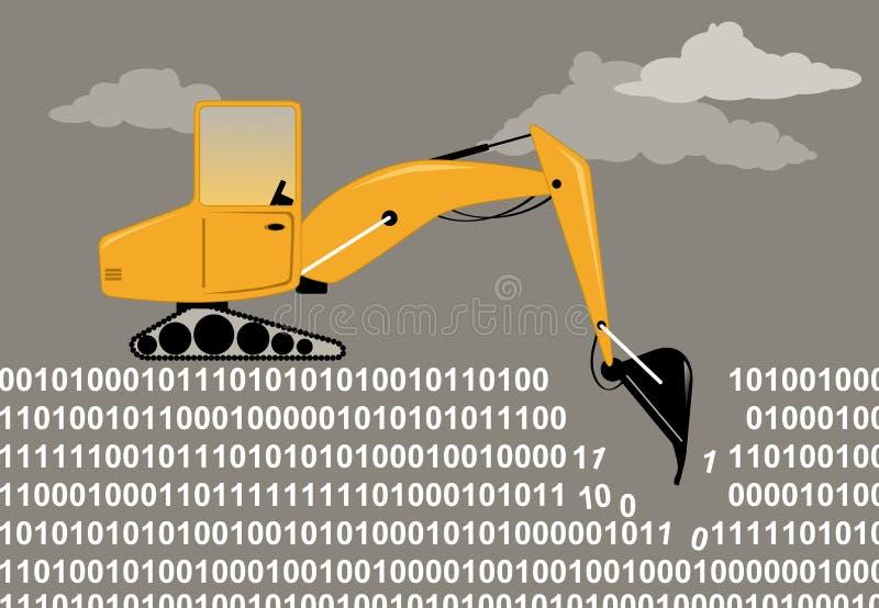 Exploitation de données illustration de vecteur