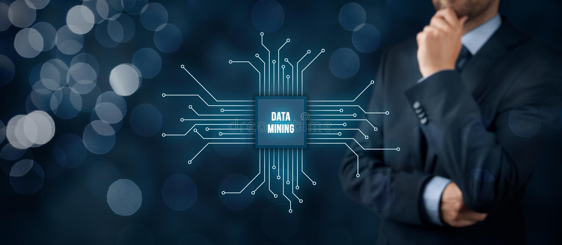 Exploitation de données images stock