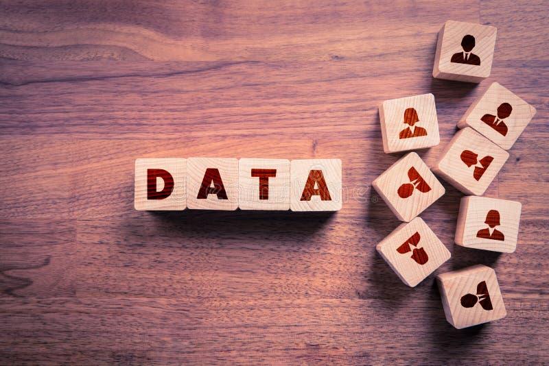 Exploitation de données et concepts de GDPR images libres de droits