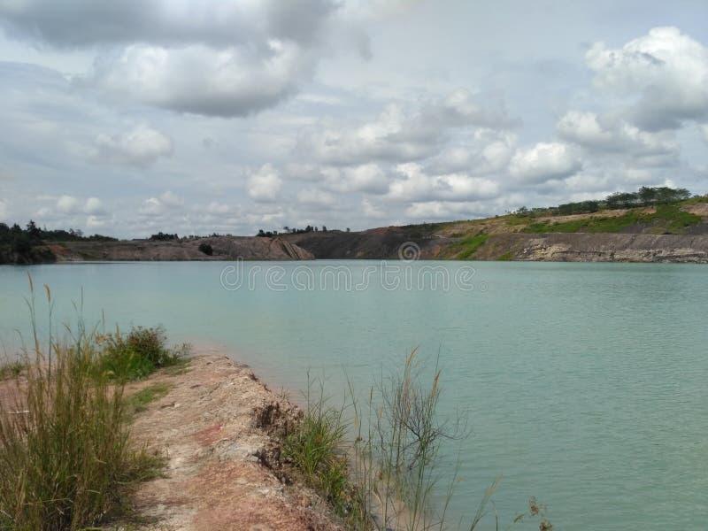 Exploitation ex de lac bleu photographie stock libre de droits