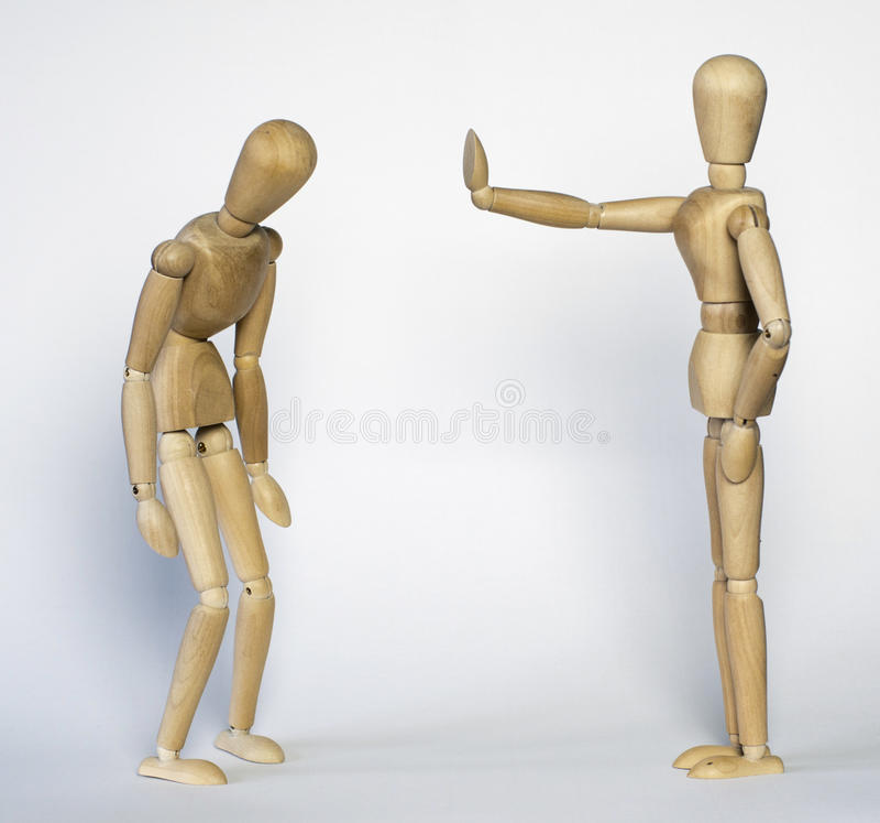 Mannequin deux en bois photo libre de droits