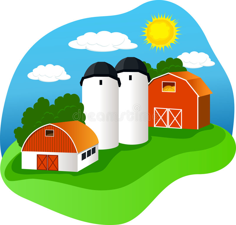 Exploração agrícola ilustração royalty free