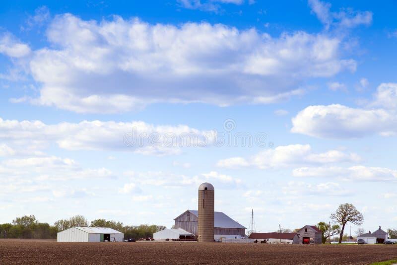 Exploração agrícola americana tradicional fotos de stock royalty free