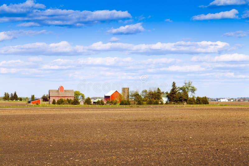 Exploração agrícola americana tradicional fotografia de stock