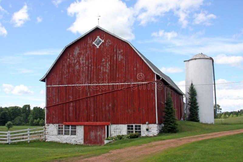 Exploração agrícola da família de Wisconsin foto de stock royalty free