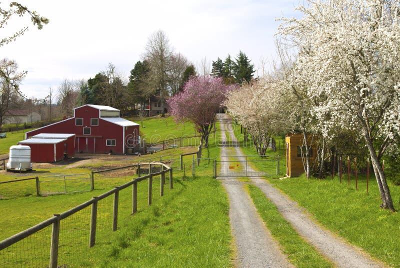 Exploração agrícola da família em Oregon rural. imagem de stock