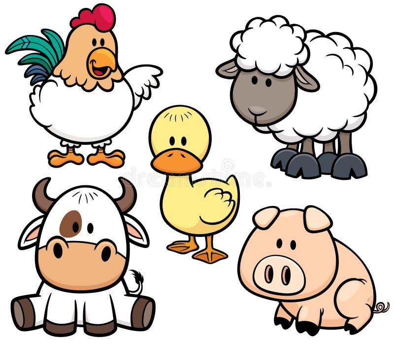 Exploração agrícola de animais ilustração do vetor