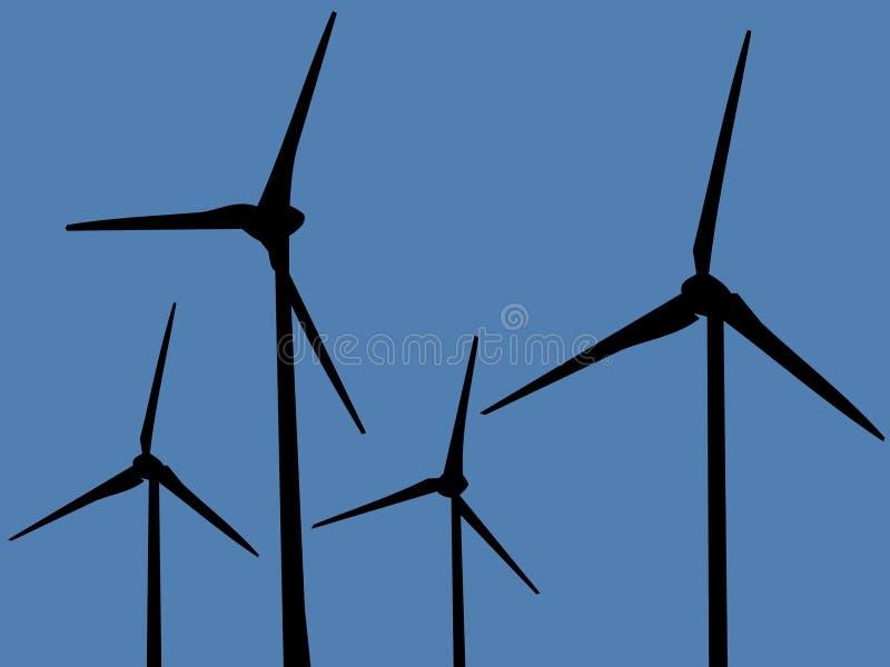 Exploração agrícola de vento ilustração do vetor