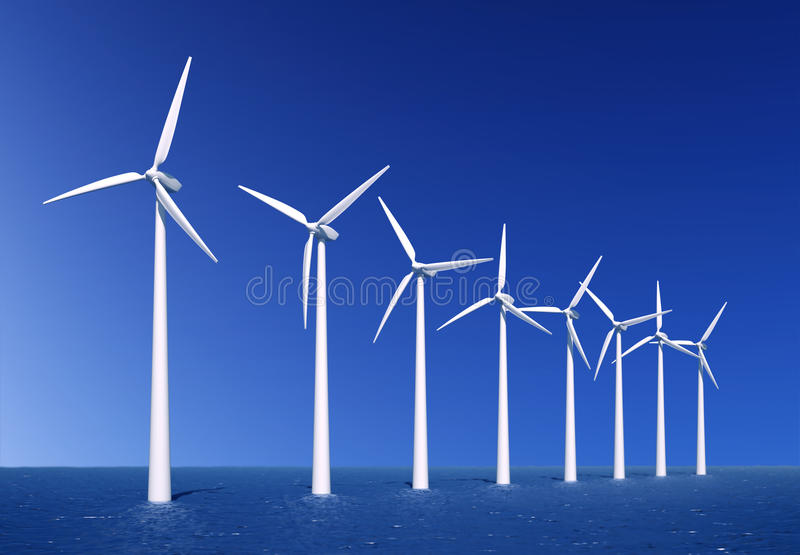 Exploração agrícola de vento fotografia de stock