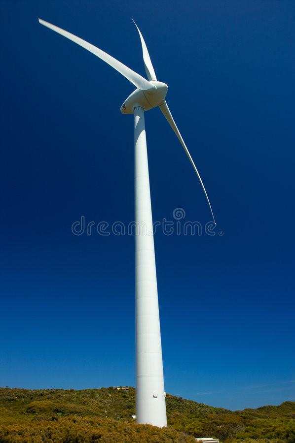 Exploração agrícola de vento, Albany foto de stock royalty free