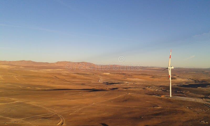 Exploração agrícola de vento de Taltal imagem de stock royalty free