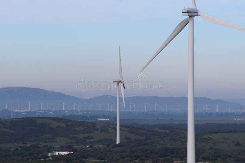 Exploração agrícola de vento Fascinas, a Andaluzia, Espanha imagem de stock