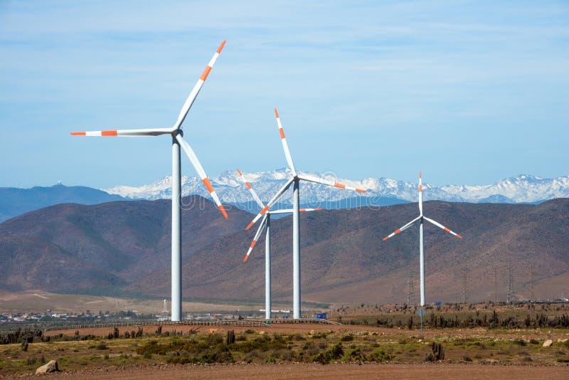 Exploração agrícola de vento no Chile fotos de stock royalty free