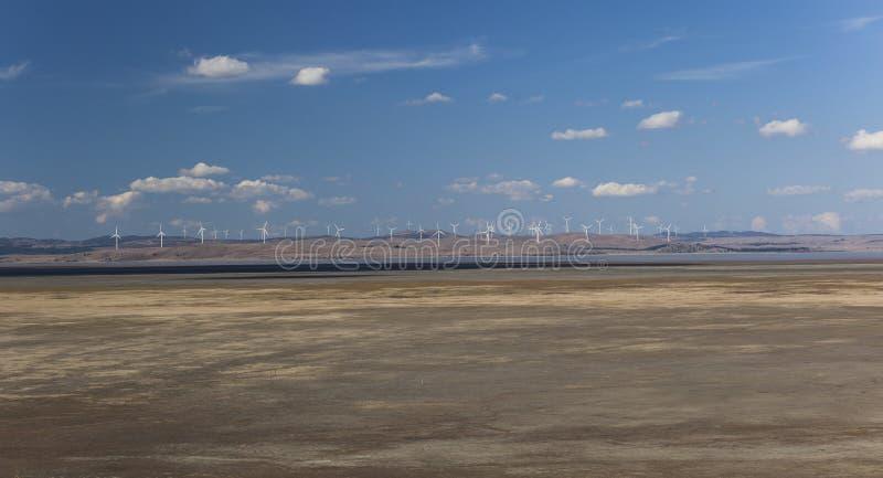 Exploração agrícola de vento principal Vista da vigia federal da estrada Bungendore imagens de stock