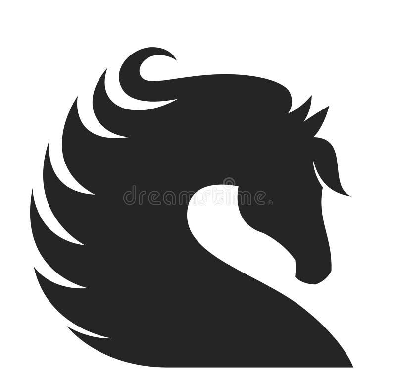 Exploração agrícola do cavalo Head ilustração stock