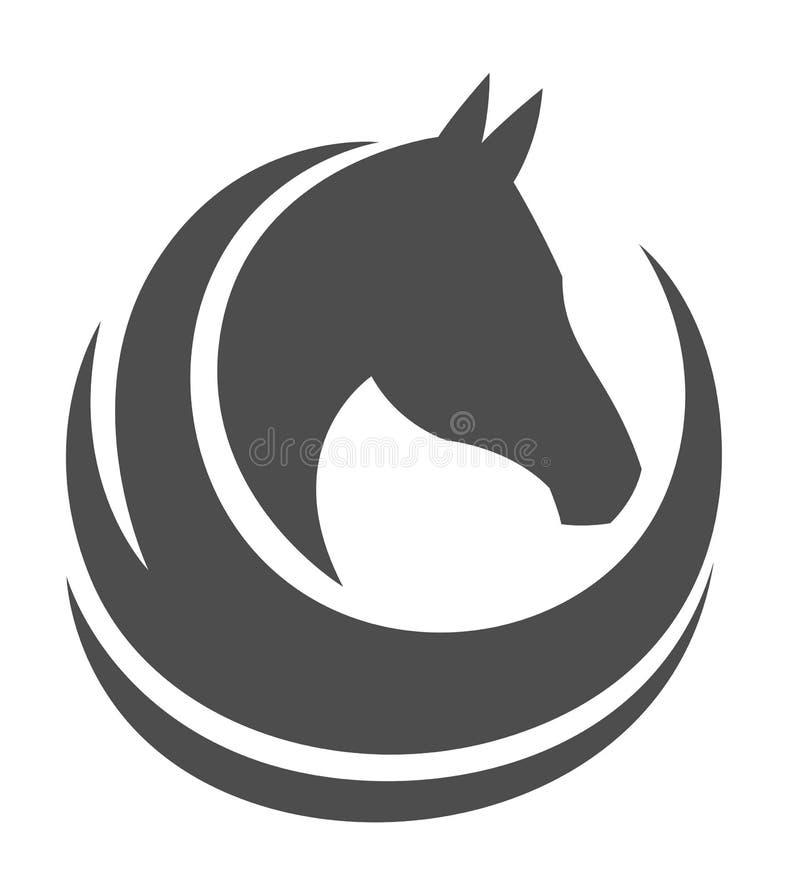 Exploração agrícola do cavalo Head ilustração royalty free
