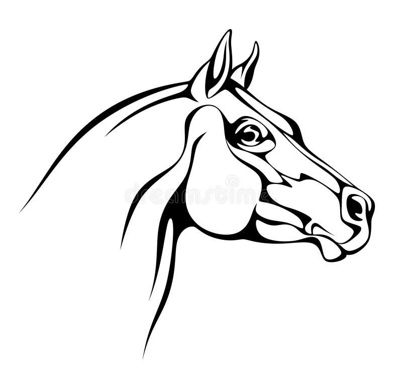 Exploração agrícola do cavalo Head ilustração do vetor