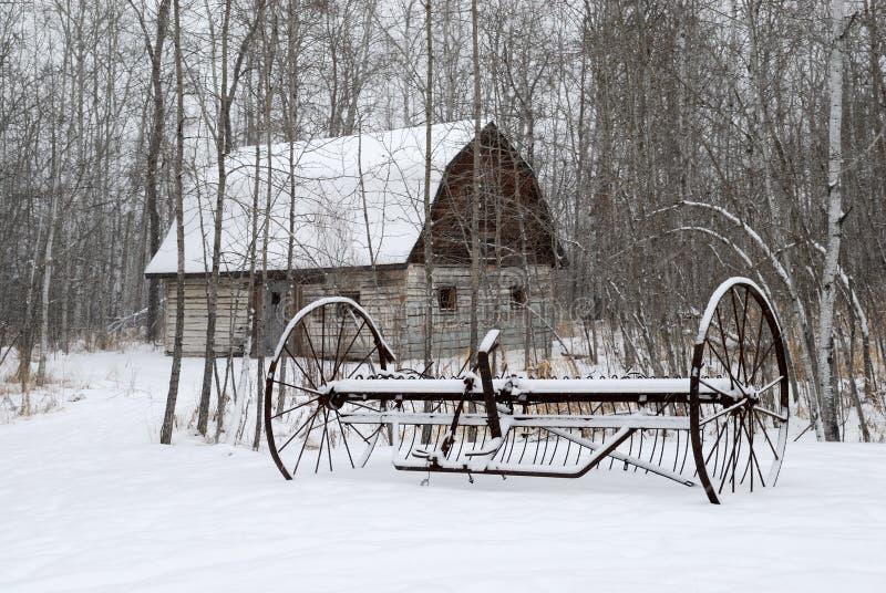 Exploração agrícola do inverno fotos de stock