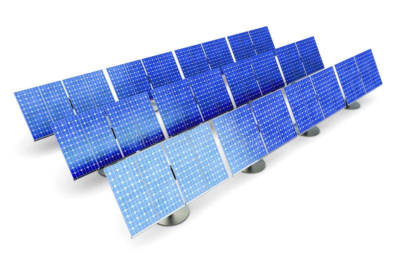 Exploração agrícola do painel solar ilustração royalty free