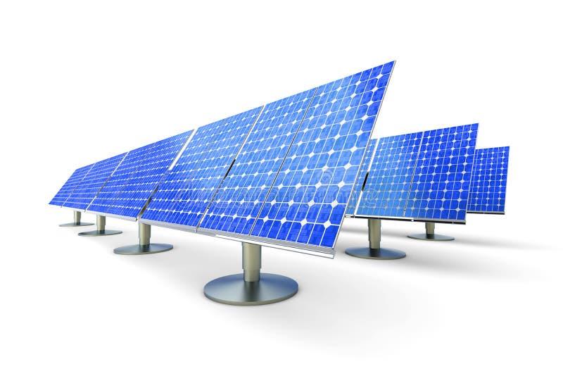 Exploração agrícola do painel solar ilustração stock